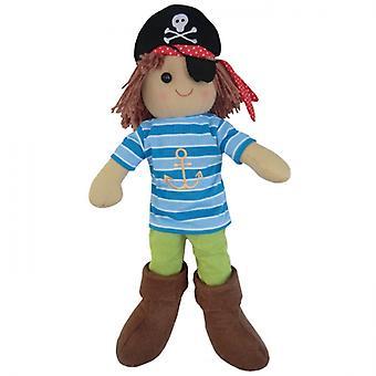 Powell Craft Childrens stof Rag Doll - piraat Design