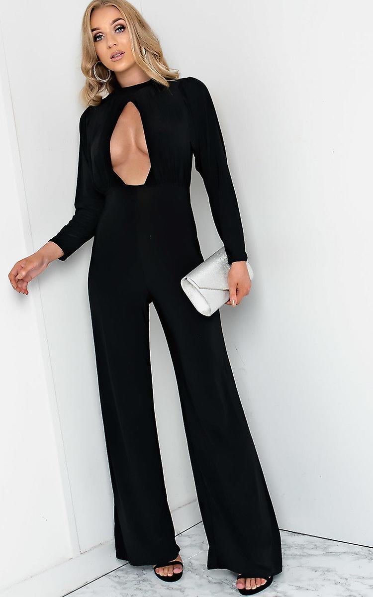 IKRUSH Womens Effie Cut Out Wide Leg Jumpsuit