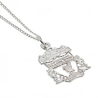 Liverpool FC Sterling Silver Crest Pendant And Chain