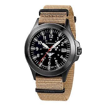 KHS orologi mens titanio nero plotone KHS automatico. BPTA. NT