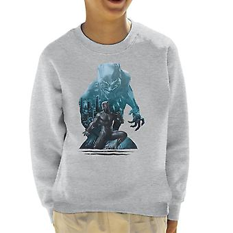 Marvel Black Panther Wakanda City Skyline Silhouette Kid's Sweatshirt
