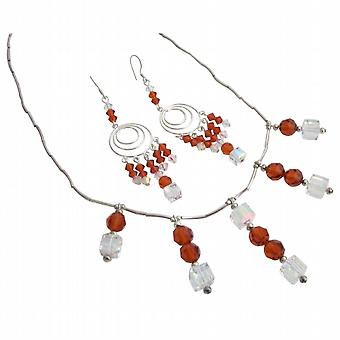 Handcrafted Custom Bridal Jewelry Swarovski Wedding Necklace Handmade