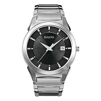 Bulova Mens Quartz Analog Watch with stainless steel band 96B149