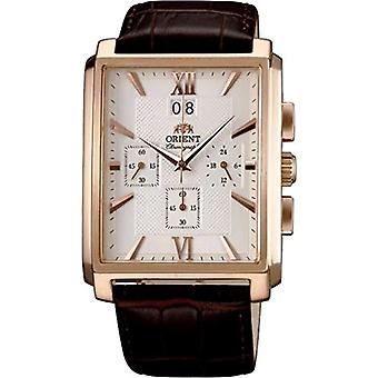 Orient Chronograph quartz men's Watch with leather band FTVAA001W0