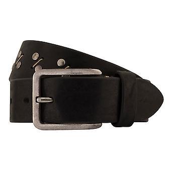 MIGUEL BELLIDO jeans belts men's belts leather belt black 7820