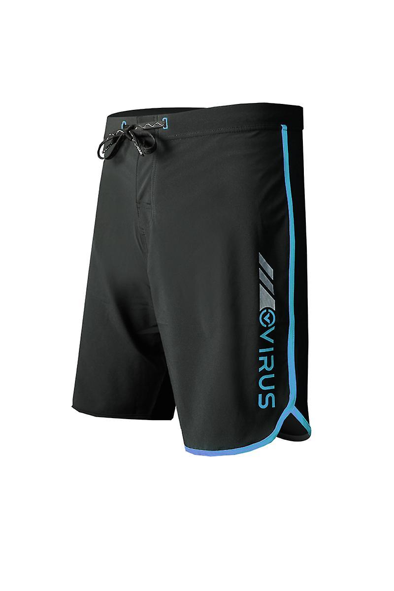 Virus Mens Airflex Training Shorts - Black/Blue - fitness mma training
