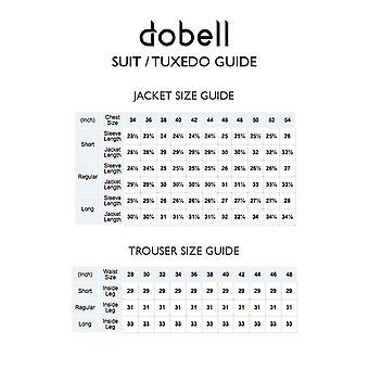 Dobell miesten musta kalan ruoto 2 Piece aamulla puku regular fit raidallinen housut
