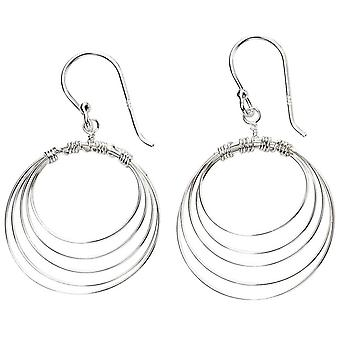 Beginnings Multi Circle Wire Earrings - Silver