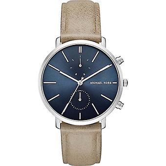 Michael Kors Mens Analogue Quartz Watch Brown Tan Leather Strap MK8540