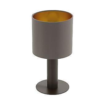 Eglo Concessa 1 Cappuccino og gull stoff bordlampe