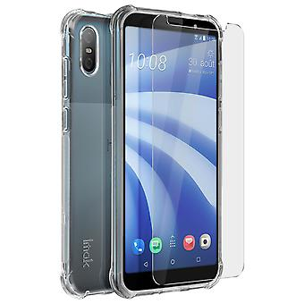 Imak HTC U12 liv mjukt silikon fodral + transparent flexibel film