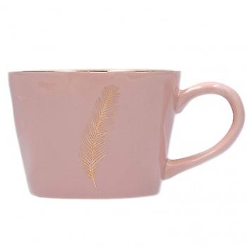 Gisela Graham Pink Artisan Feather Mug | Gifts From Handpicked