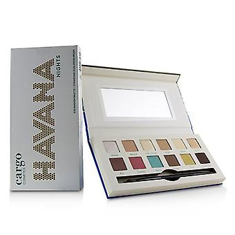 Cargo Havana Nights Eye Shadow Palette (12x Eyeshadow, 1x Dual End Brush) 12x0.8g/0.03oz