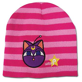 Beanie Cap - Sailor Moon - New Luna P Pink Stripe Anime Hat ge32439