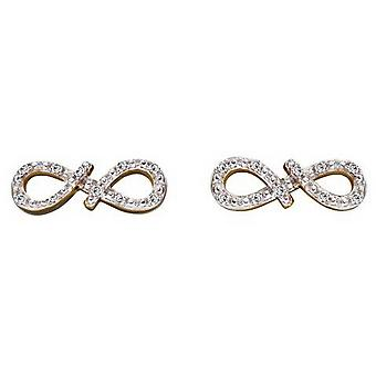 Elements Gold Infinity Encrusted Earrings - Gold/Silver