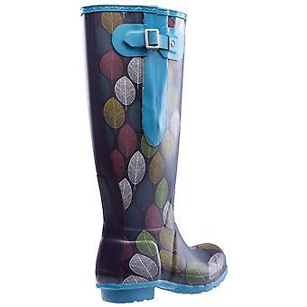 Hawkridge Womens/Ladies Leaf Wellington Boots