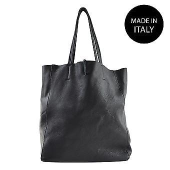 Läder axelväska tillverkad i Italien 80031