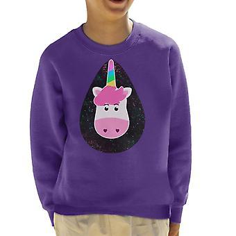 Rainbow Unicorn Love Kid's Sweatshirt