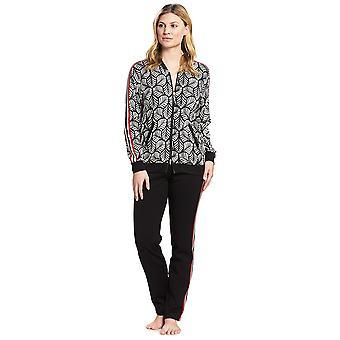 Feraud 3191097-16365 Femmes-apos;s Couture Black Leaves Loungewear Set