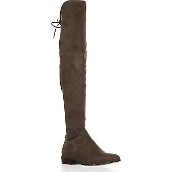 Marc Fisher Womens Humor 2 Fabric Almond Toe Over Knee Fashion Boots