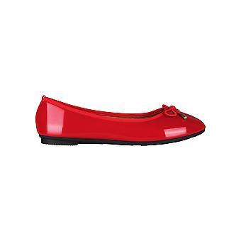 KRISP Dames Bow Toe Plain Patent Flat Ballerina Ballet Pumps Dolly Schoenen Grootte