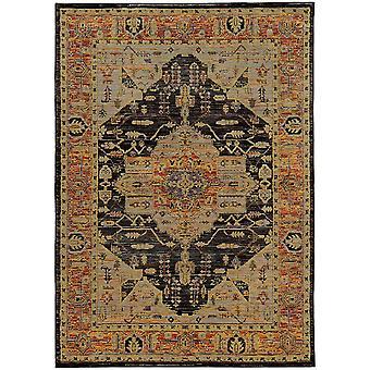 Andorra 7138b gold/ grey indoor area rug rectangle 3'3
