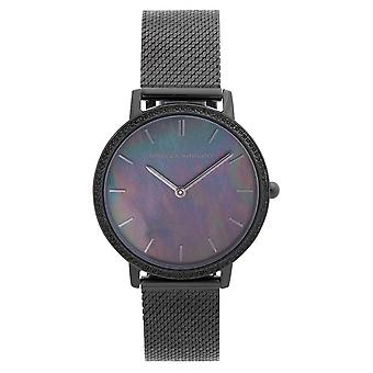Rebecca Minkoff | Women's Major | Ionic Plated Black Steel | Mother Of Pearl 2200370 Watch