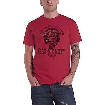 Gas Monkey Garage T Shirt GMG Custom Hot Rods Logo new Official Mens Red