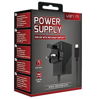 Nintendo switch power supply (compatible with console, dock and pro controller)