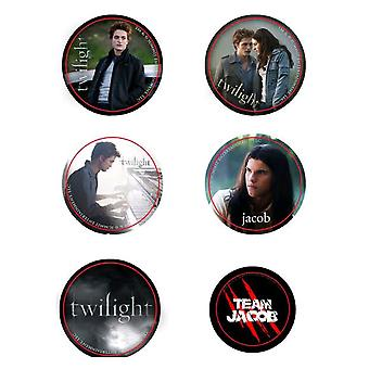 Twilight Pin Set of 6 Style A (Team Jacob)