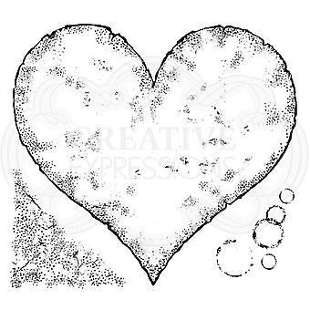 Woodware Clear stämpel-sönderrivna papper hjärta