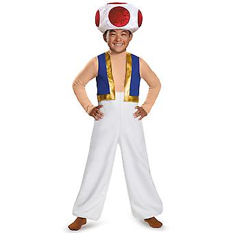 Toad Deluxe Super Mario Nintendo Video Game Fancy Dress Up Child Boys Costume