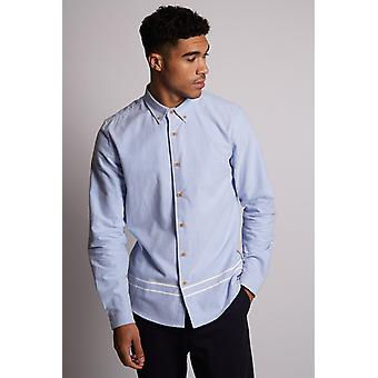 Hymn Cedar Brushed Oxford Striped Shirt Blue