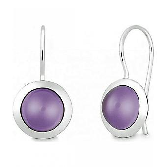 Quinn - Silver earrings with amethyst - 035839933