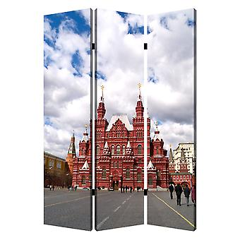 "1"" x 48"" x 72"" Multi Color Wood Canvas Russia  Screen"