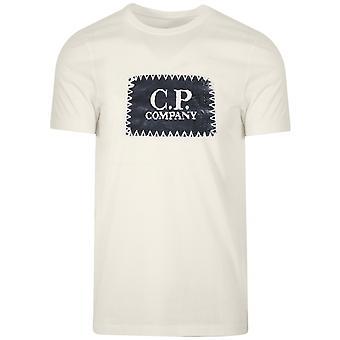 C.P. Company C.P. Company Off-White Embroidered Print Logo T-Shirt
