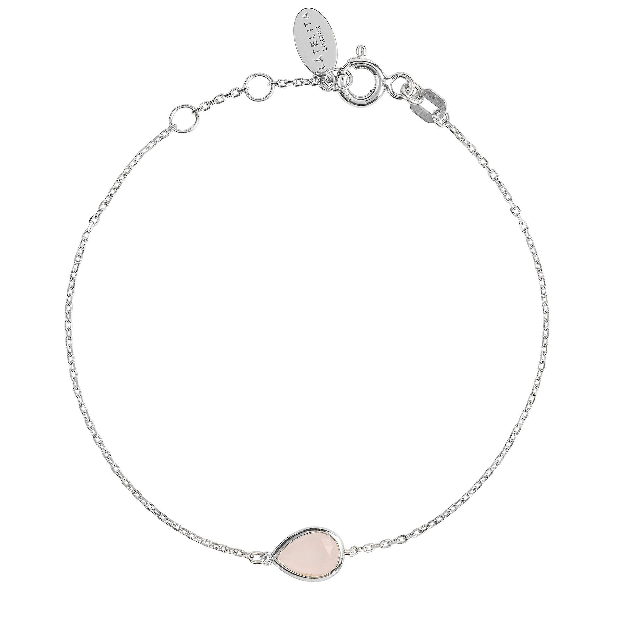 Latelita Bracelet Pink Rose Quartz Small Gem Bridesmaid Gift Sterling Silver