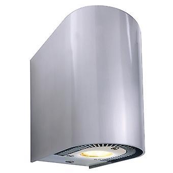 LED wall construction lamp Adelanto II 2x5W 3000 K 137x70mm IP20 silver aluminium