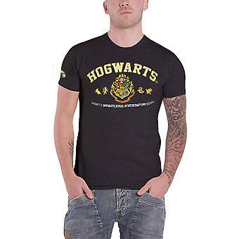 Harry Potter T Shirt Hogwarts Wappen Applique Schullogo neuen offiziellen Mens grau