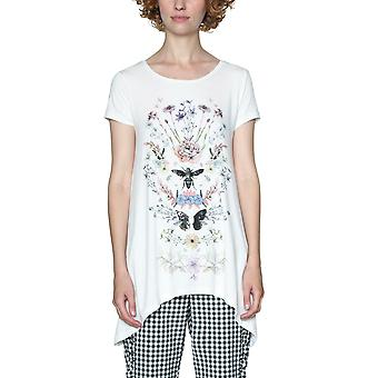 Desigual Women's Apostolos Insect Floral Tshirt Top