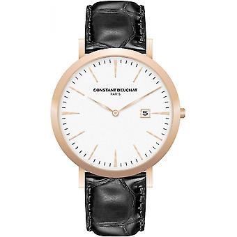 Watch CB0055-3 Beuchat - leather Ros e woman