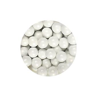 Paarse cupcakes 10mm parels-wit-80g