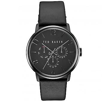 Ted Baker James Quarz schwarz Zifferblatt Lederband Chronograph MensWatch TE10030763