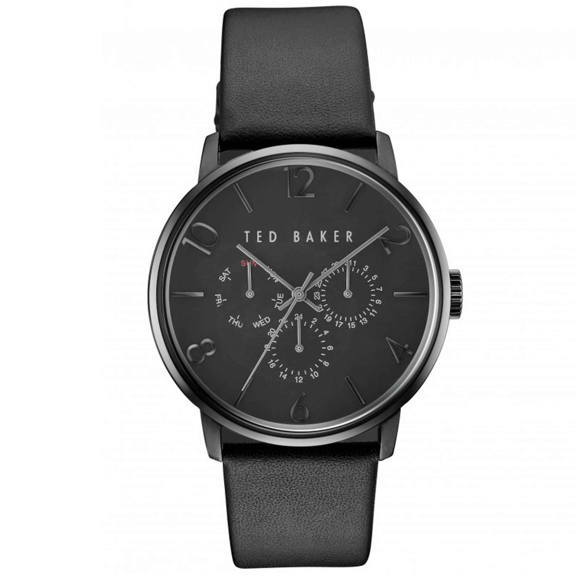 Ted Baker James Quartz Black Dial Leather Strap Chronograph MensWatch TE10030763