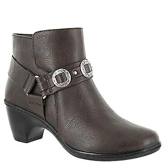 Easy Street Women's Bailey Ankle Boot, Brown, 9.5 M US