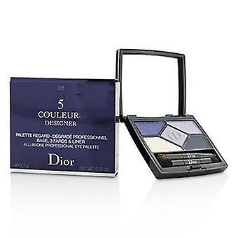 Christian Dior 5 Color Designer All In One Professional Eye Palette - No 208 Navy Design 5.7g/0.2oz