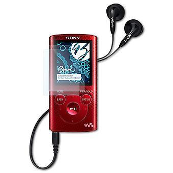 Bruni 2x Schutzfolie kompatibel mit Sony Walkman NWZ-E384R Folie