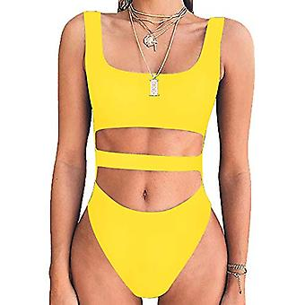 BelleLovin Womens Sexy Cut Out Bodysuits Sleeveless Tops Cotton Jumpsuits (Ye...