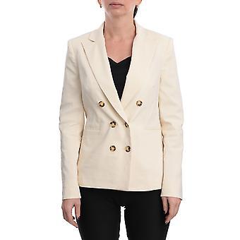 Pinko 1b14du7435c00 Women's White Linen Blazer