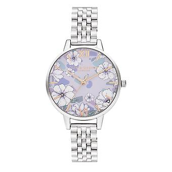 Olivia Burton Watches Ob16an05 Groovy Blooms Rose Gold & Silver Bracelet Stainless Steel Ladies Watch
